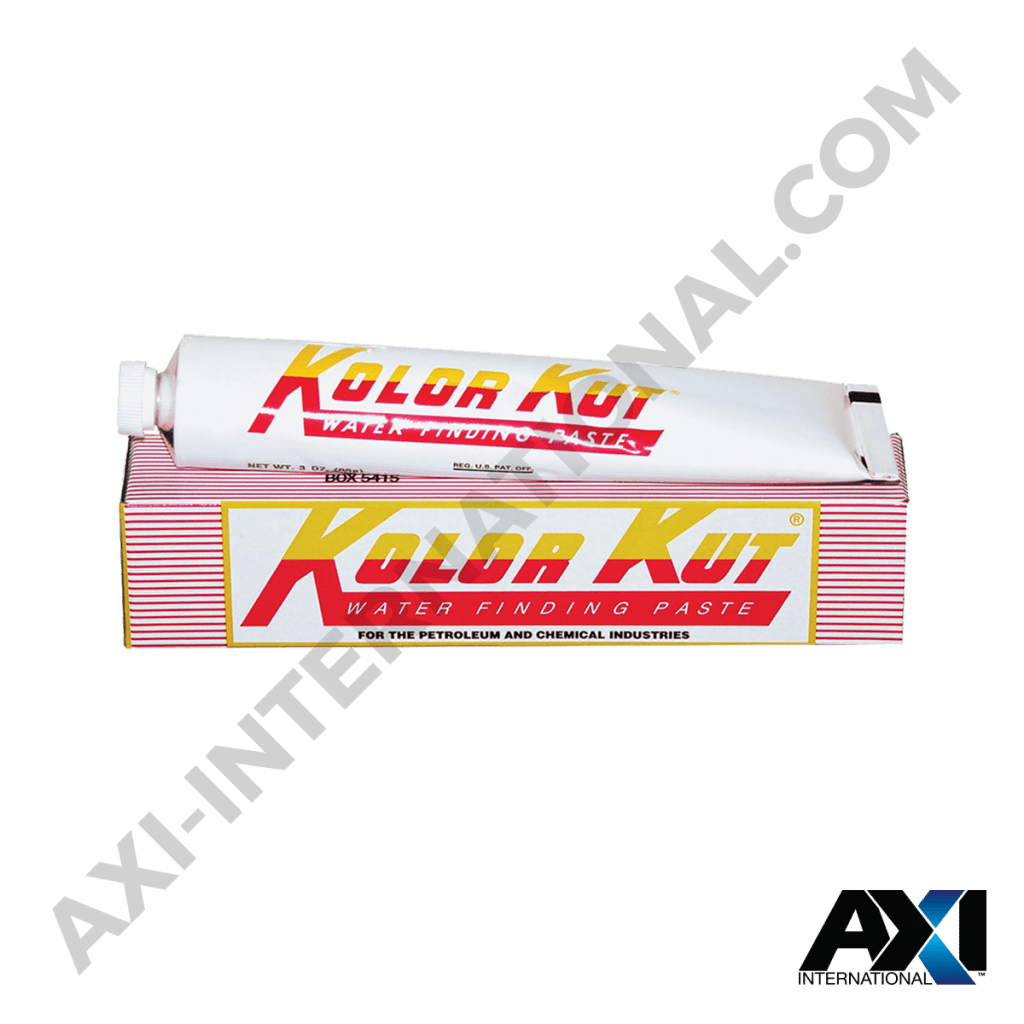 Kolor Kut Water Finding Paste for Petroleum and Chemical Industries.