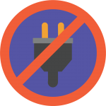 Power outage generator backup icon graphic.