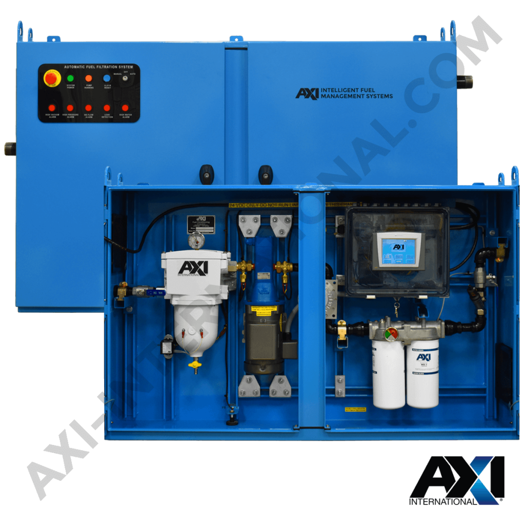 Diesel fuel polishing systems by AXI International for the intelligent management of fuel maintenance.
