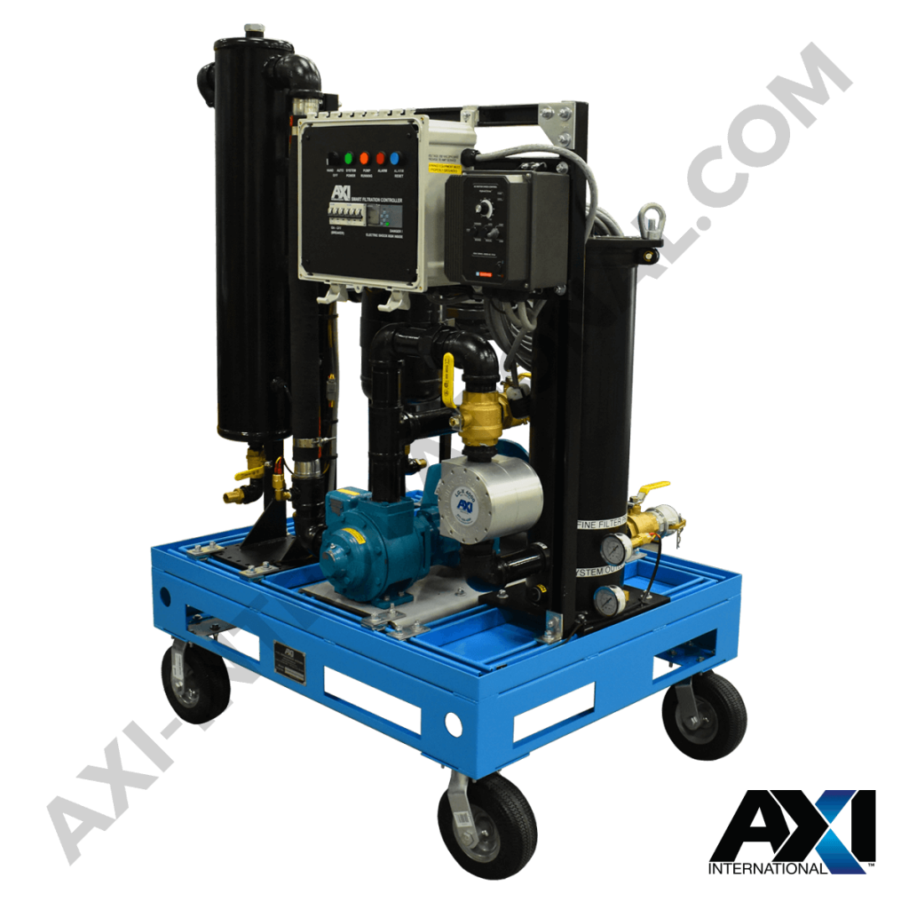 Mobile fuel polishing cart for diesel maintenance for mobile applications and businesses.