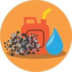 Causes of fuel contamination icon