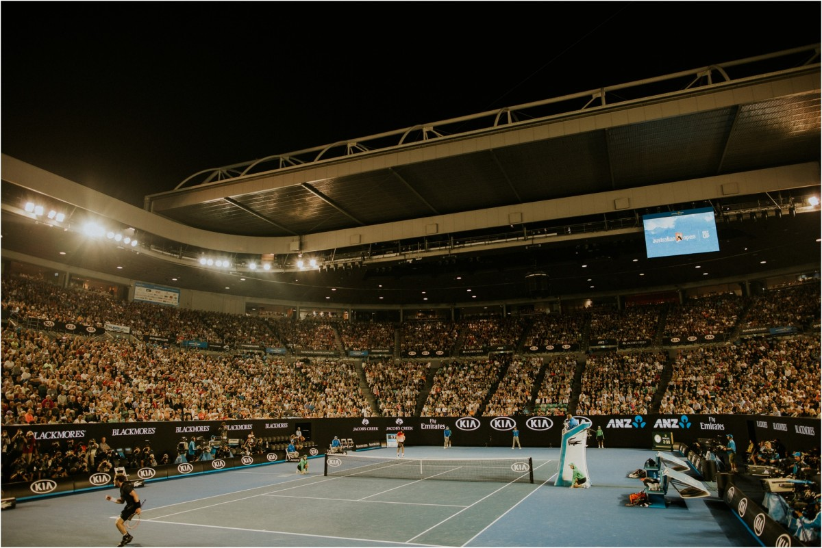 travel photography, melbourne, skyscrapers, australian open 2016, rod laver arena, melbourne city, andy murray, tennis
