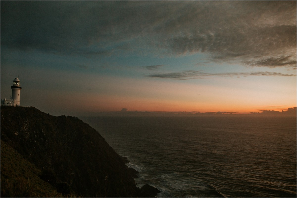 travel photography, destination wedding photographer, cape byron lighthouse, byron bay, australia, sunset, sunrise
