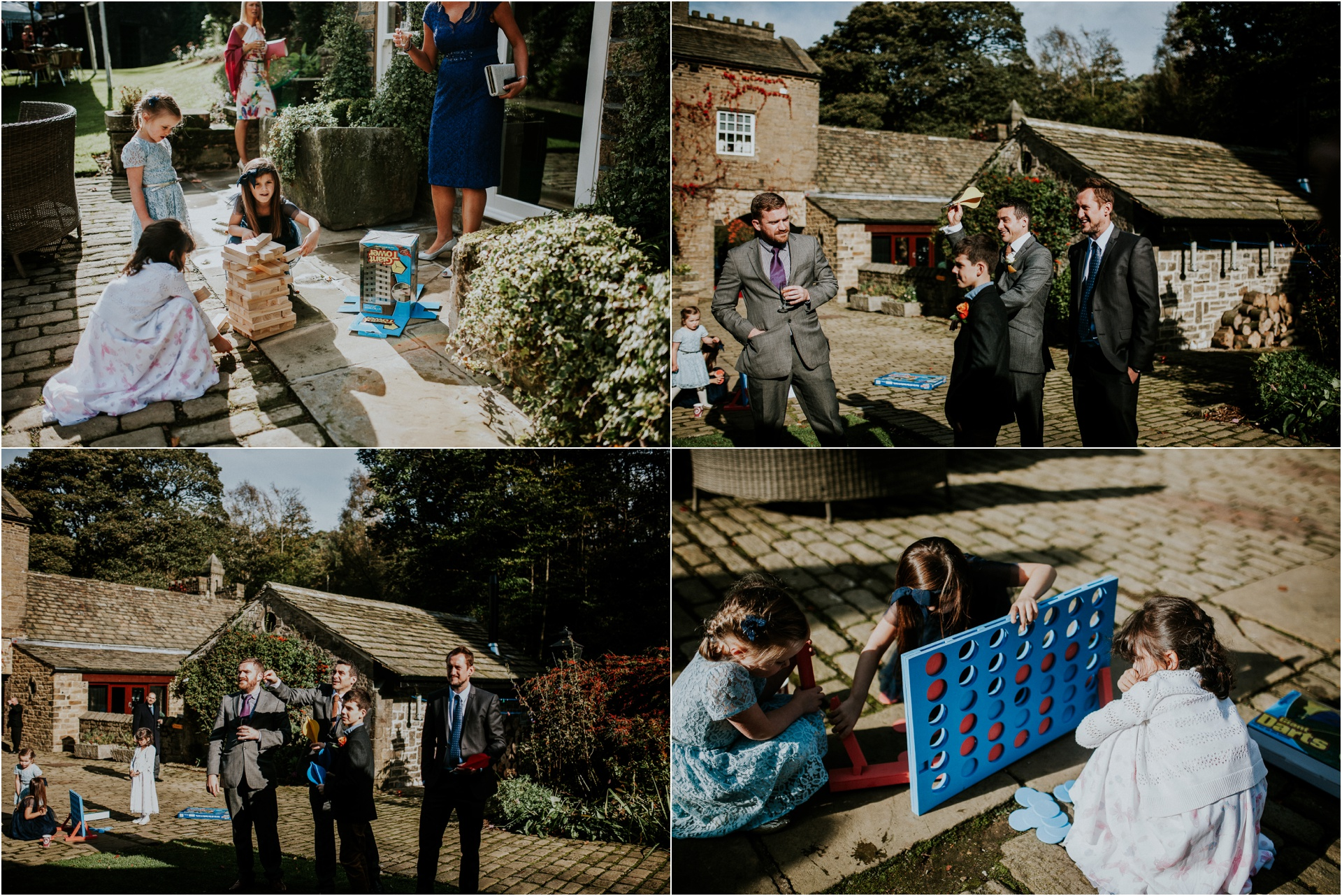 Beautiful same sex wedding at Carr Hall Castle in Yorkshire, documentary wedding photography, autumn wedding, Carr Hall Castle,, Carr Hall Castle Wedding, Yorkshire Wedding photographer, same sex wedding photographer, lawn games
