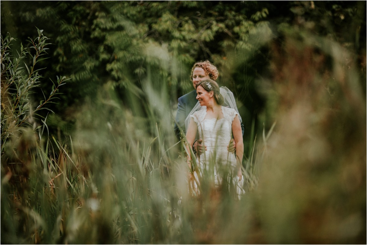bridal portraits, outdoor bridal portraits, bridal portraits in a bus, Documentary wedding photographer cheshire