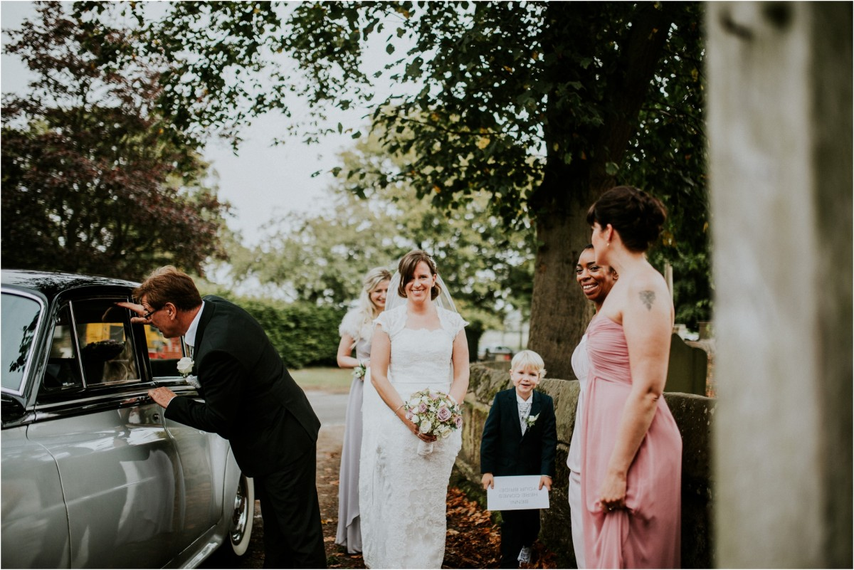 bridal entrance, Documentary wedding photographer cheshire