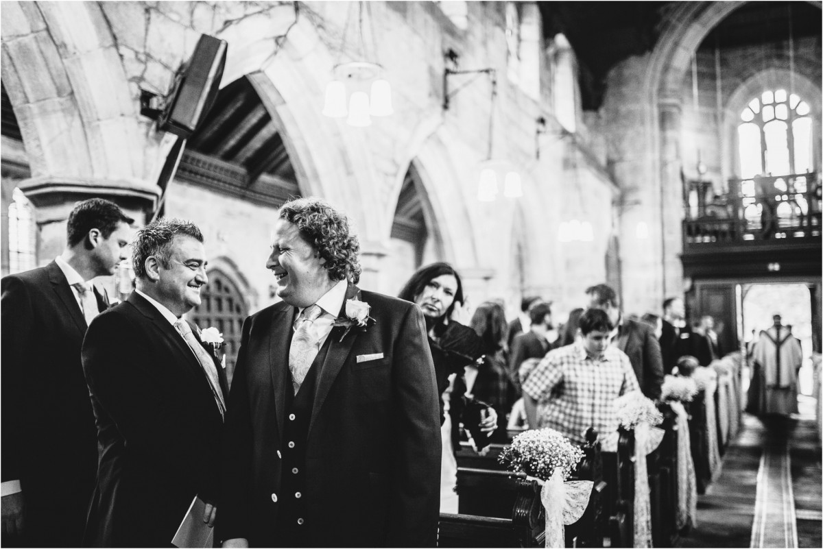 groom in church, Documentary wedding photographer cheshire