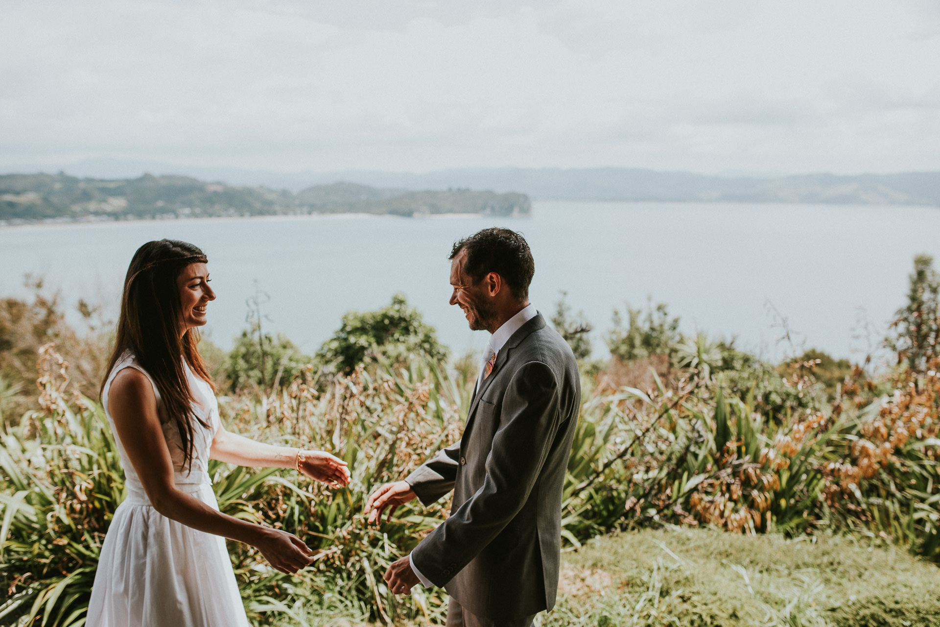 Coromandel New Zealand wedding photography, Coromandel wedding photography, hahei wedding, new zealand wedding photography, destination wedding photographer, ayesha photography, bride and groom, beach wedding, first look