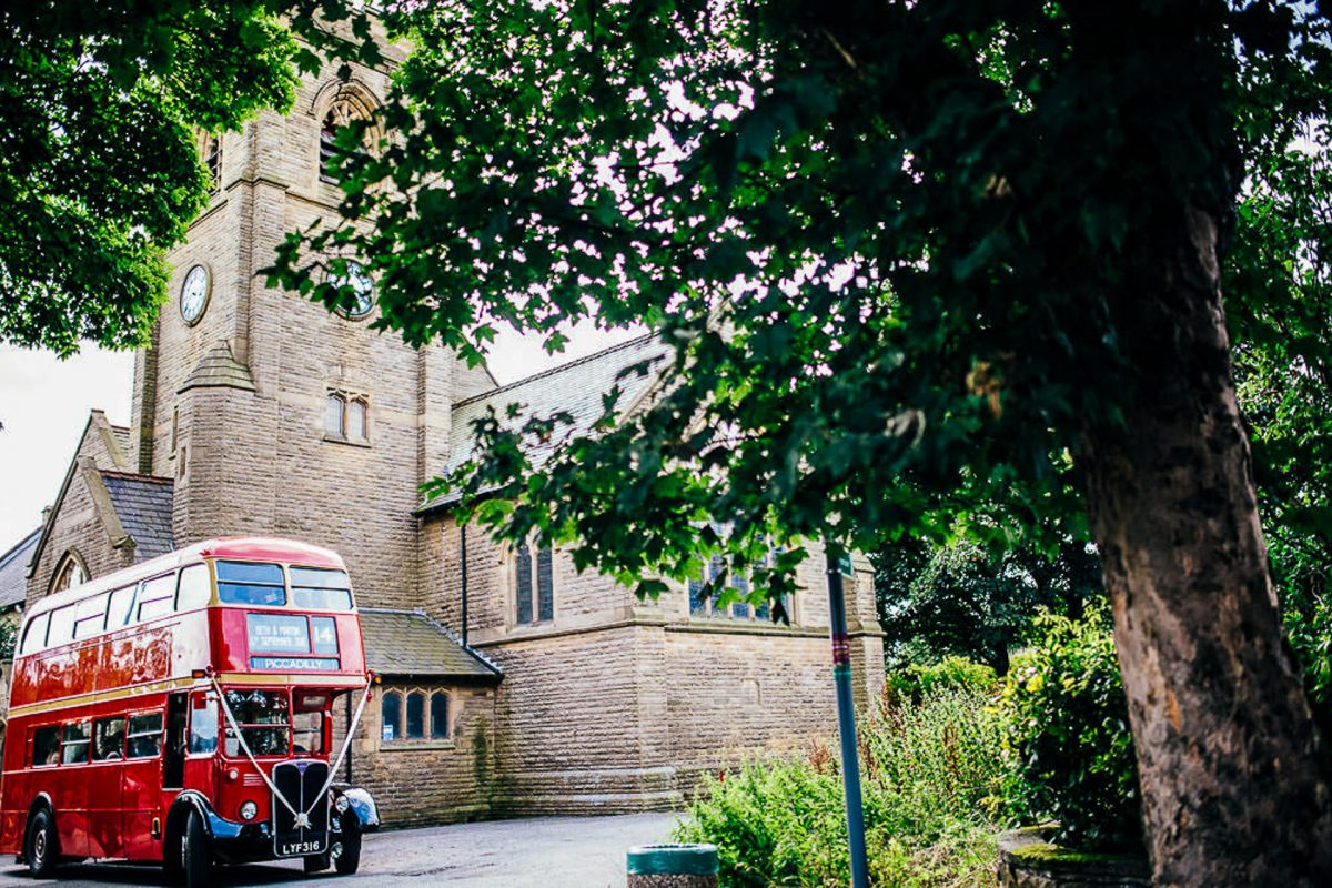 manchester wedding photographer, ayesha photography, alternative manchester wedding photographer, red vintage wedding bus