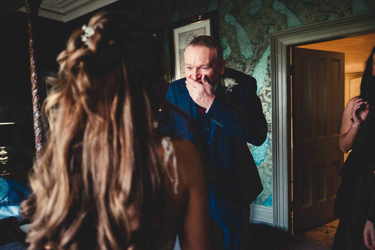 mitton hall wedding photography, mitton hall wedding photographer, mitton hall, mitton hall wedding, lancashire wedding photographer, lancashire wedding photography, manchester wedding photographer, manchester wedding photography, ayesha photography, dad's reaction to daughter in her wedding dress