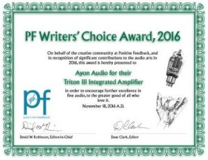 2016 Positive Feedback Writers' Choice Award!