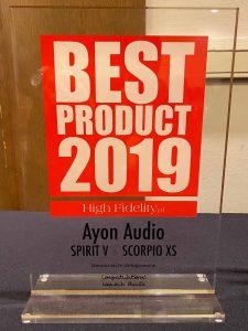 Ayon Spirit V & Ayon Scorpio xs High Fidelity Award