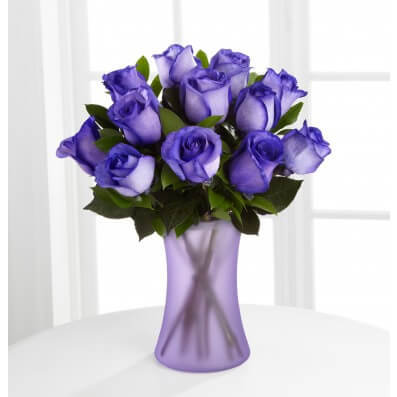 Popping Purple Fiesta Rose Bouquet - 12 Stems