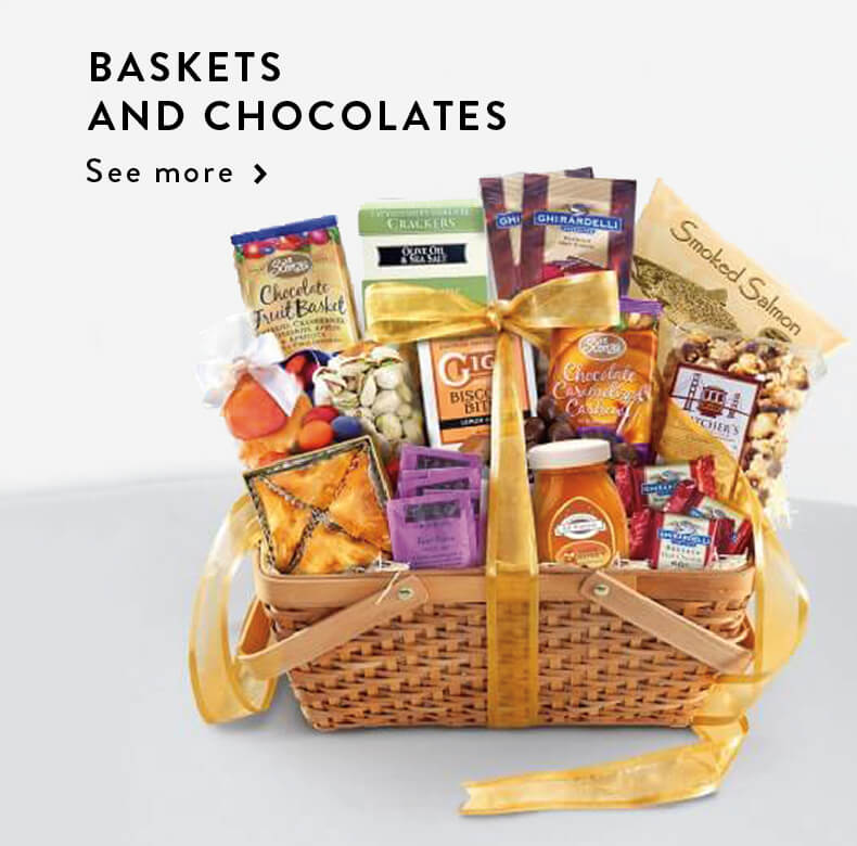 Baskets and chocolates