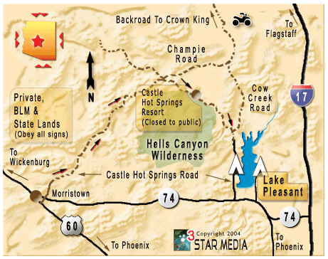 Map Of Crown King Arizona.Azgfd