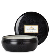 Moso Bamboo - 3 Wick Candle in Decorative Tin
