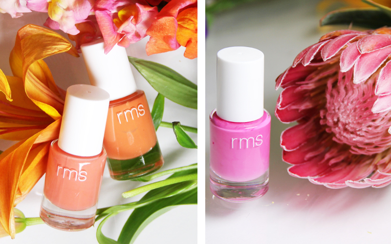 RMS, florals, floral inspired beauty, b-glowing, nails