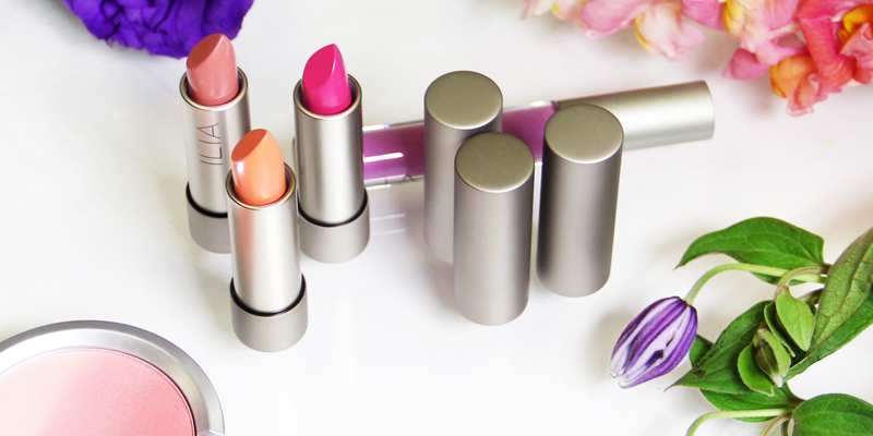 floral inspired beauty, ilia, lipsticks, b-glowing, florals