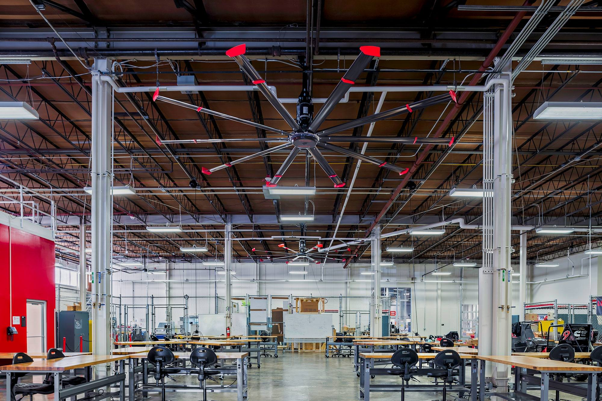 Powerfoil X3 0 is an HVLS mercial Ceilin Fans with LED