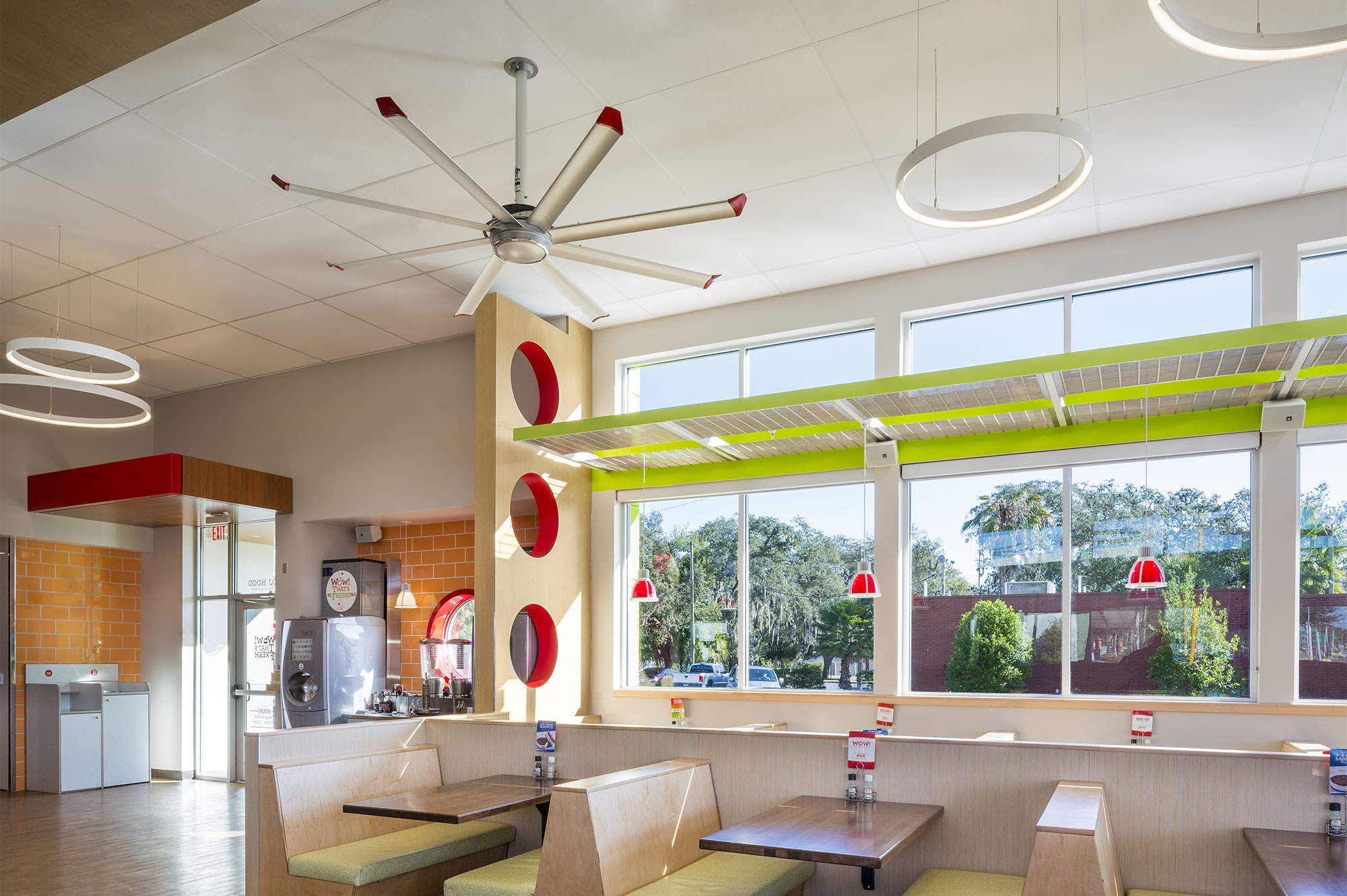 Large Silent Ceiling Fans And Lights For Bars And