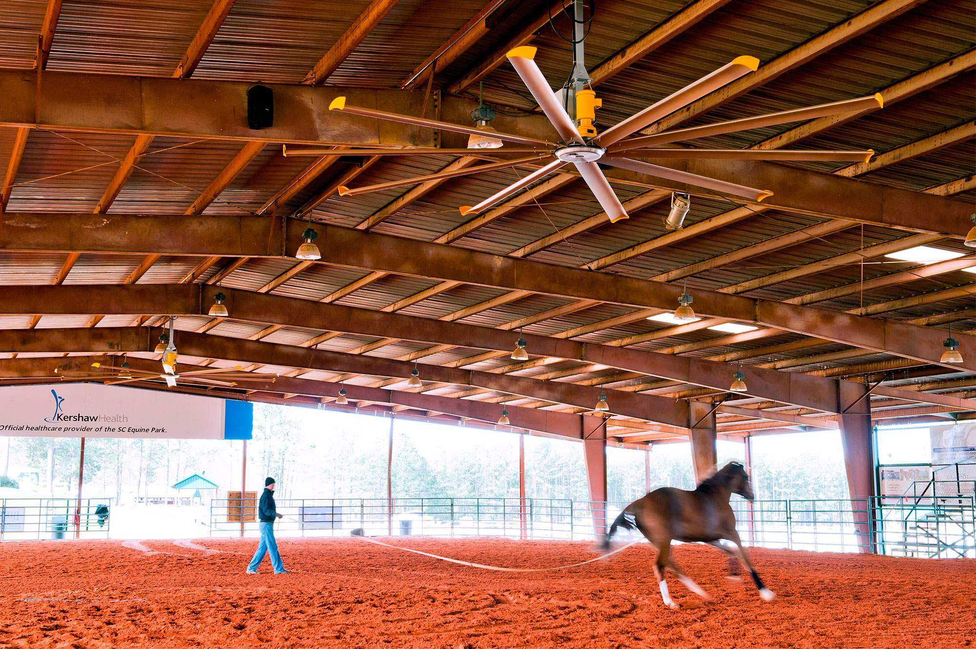 Large Ceiling Fans For Les Riding Arenas Horse From Big Ass