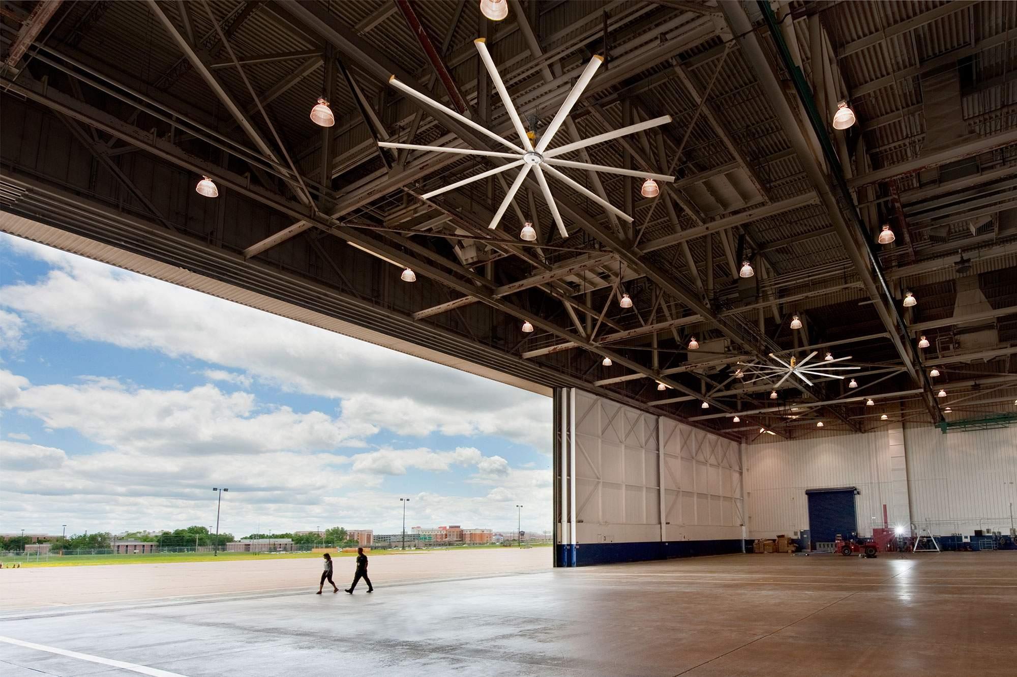 Airport Hangar Industrial Ceiling Fans From Big Ass Fans