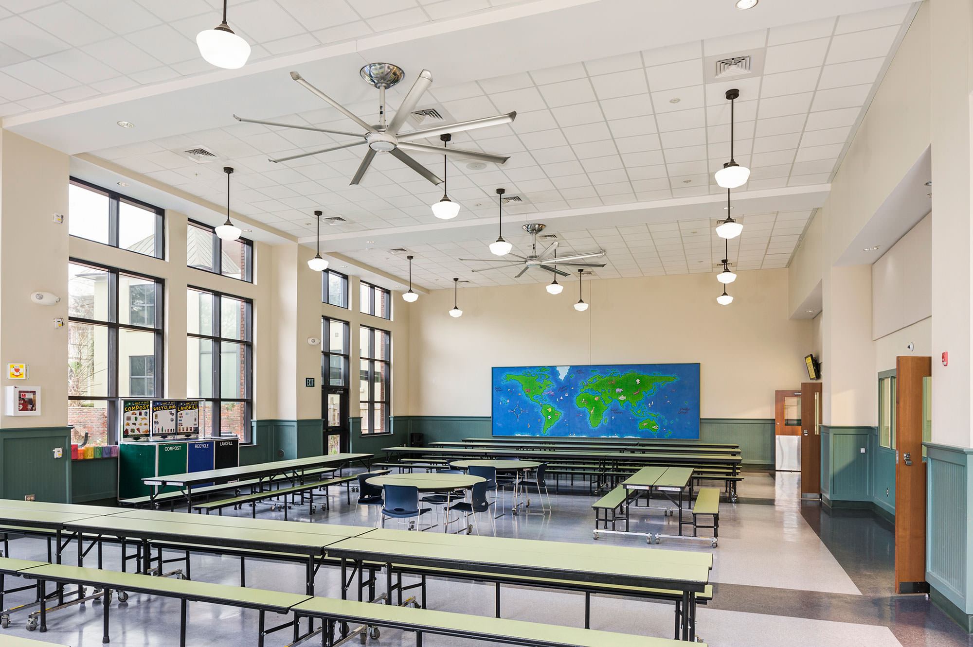 Portable Fan In A Classroom : Quiet large hvls ceiling fans for classrooms lecture
