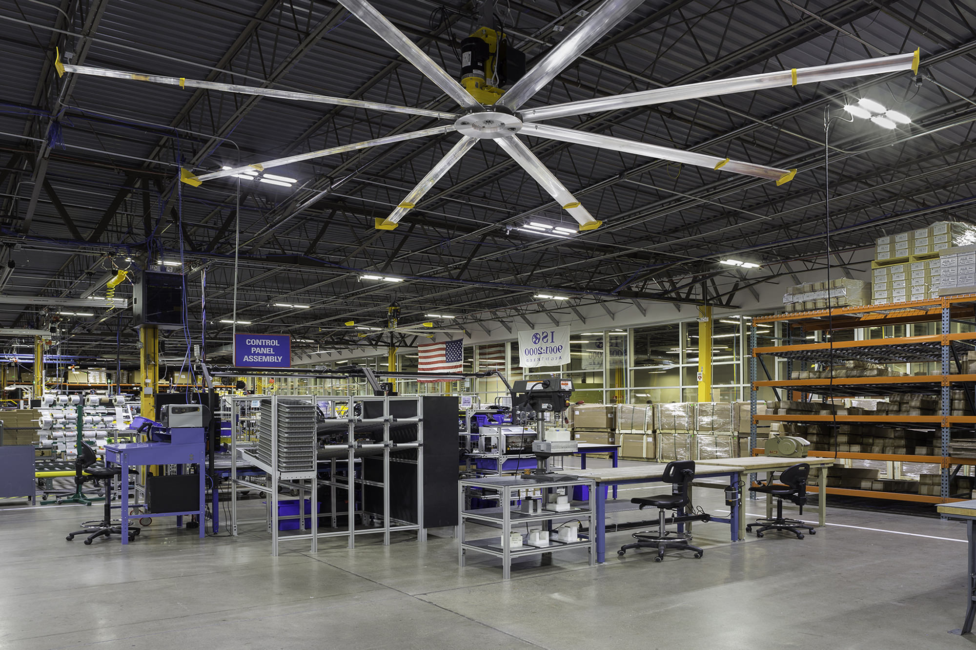 Industrial HVLS Ceiling Fans For Manufacturing Facilities From Big Ass Fans