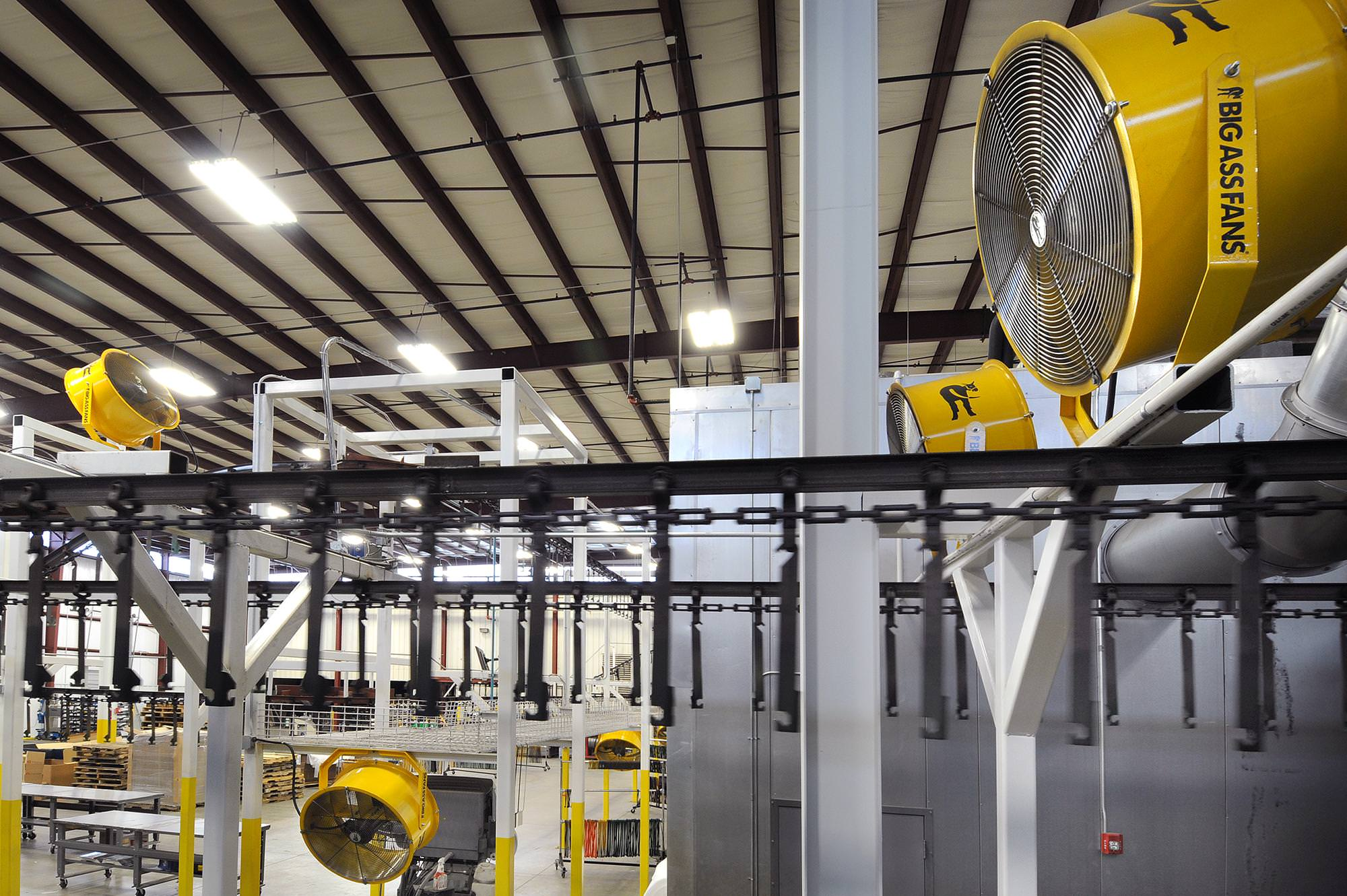 Industrial Hvls Ceiling Fans For Manufacturing Facilities