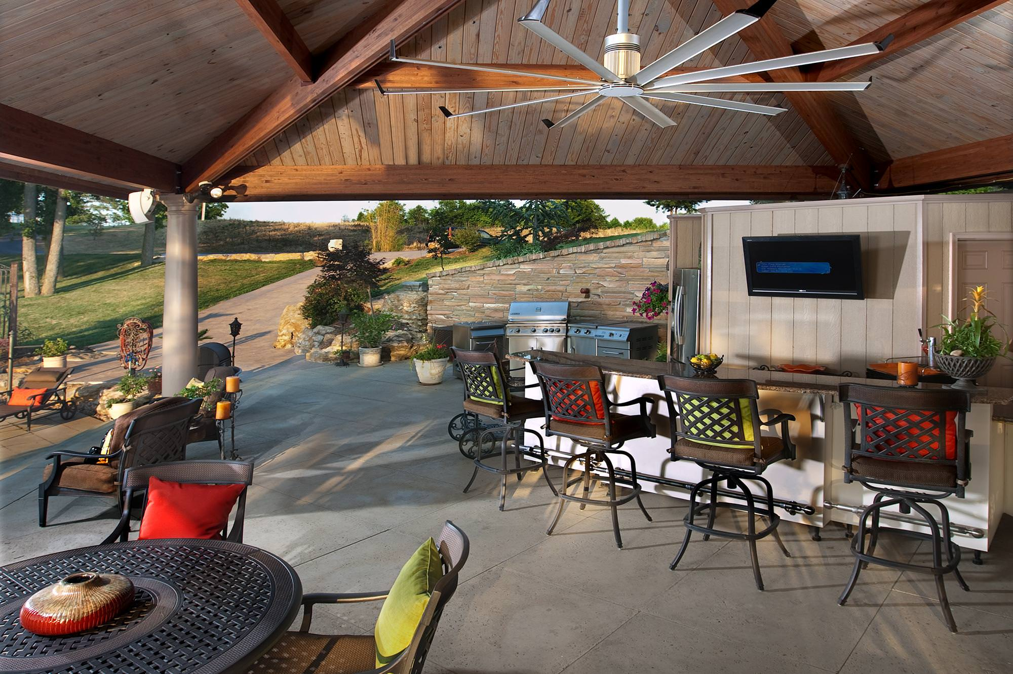 Powerful Quiet Outdoor Ceiling Fans for Open Air Venues from Big