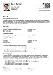 Corporate resume template