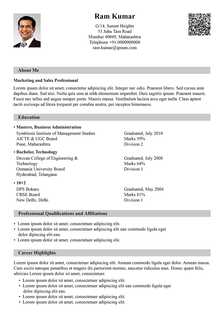 traditional heavy resume template