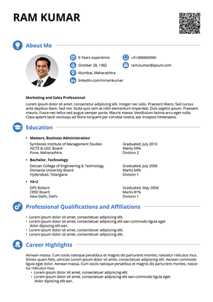 the seeker resume template