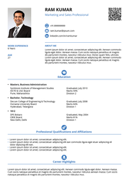 Smart and Balanced resume template