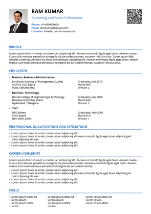 modern contemporary resume template