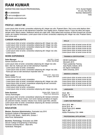 Forward and Sensible resume template