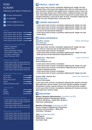 smart and secure resume template