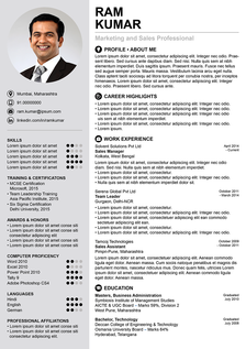 creative dance resume template