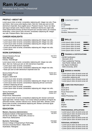 crack of dawn resume template