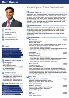 bold confidence resume template