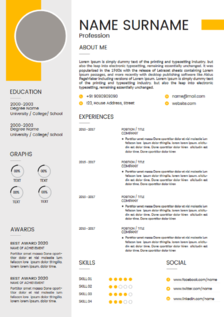 carrie resume template