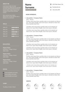 decorous resume template