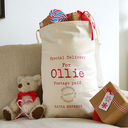 personalised christmas sack by tilliemint loves | notonthehighstreet.com