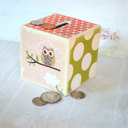 Little Owls Wood Bank  Piggy Bank by Mmim on Etsy