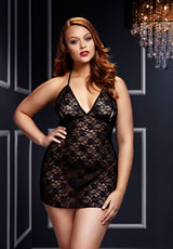 Black Lace Babydoll 1 Pc Q