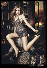 Glitter Lace Chemise - (Disc)