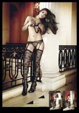 Flower Lace Thigh High - (Disc)