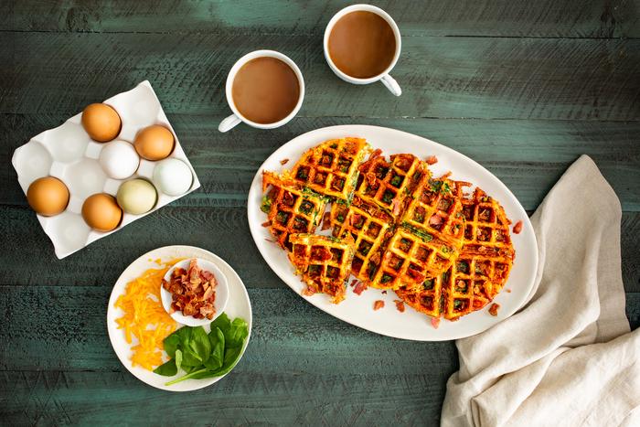 Turkey Bacon Savory Waffles