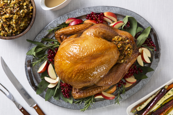Apple-Glazed Roast Turkey with Stuffing and Gravy