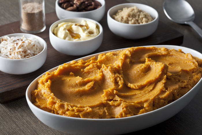 Whipped Sweet Potatoes and Topping Bar